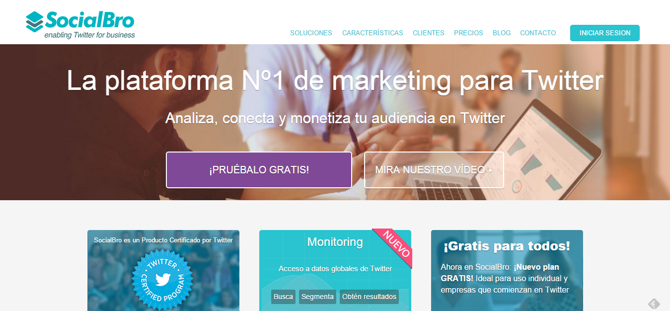 La plataforma Nº1 de marketing para Twitter SocialBro