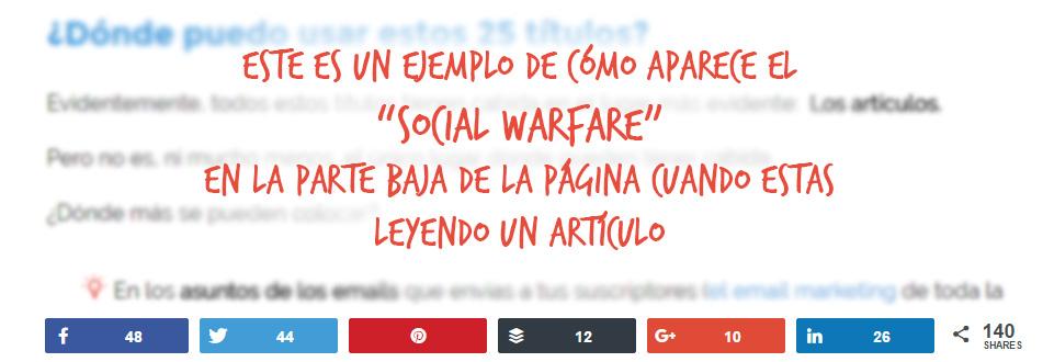 ejemplo de social warfare